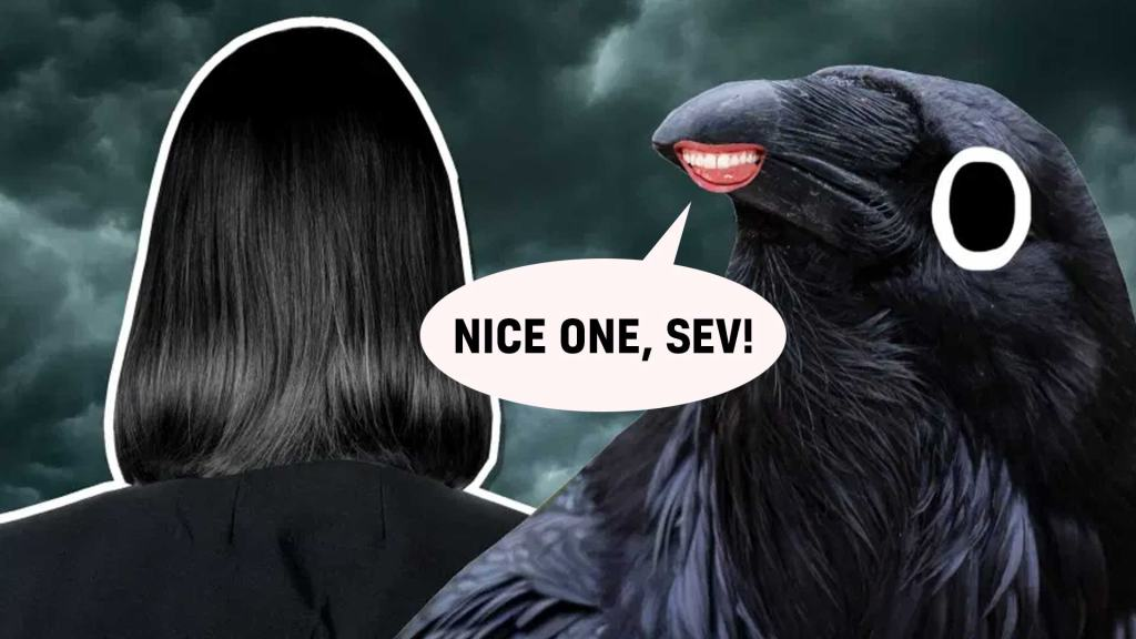 Snape and a crow play a prank