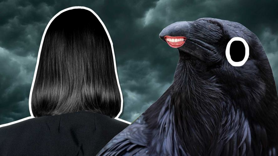 Snape and a big crow