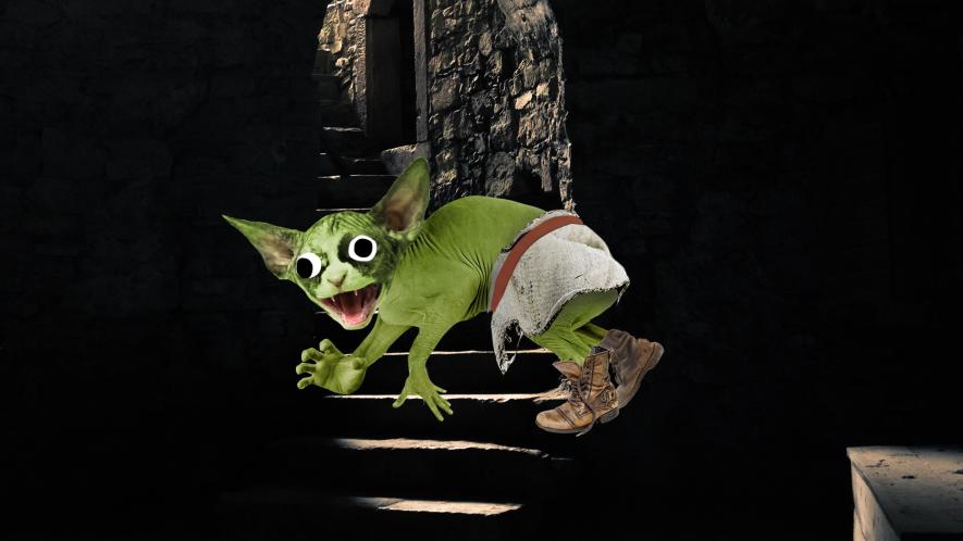 Goblin in a creepy castle