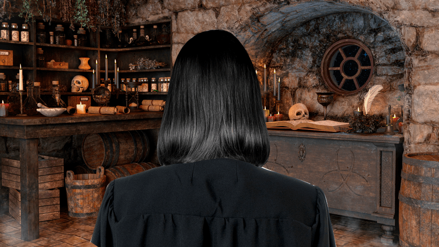 Snape head in potions class