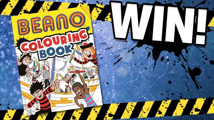 Win the Beano Colouring Book