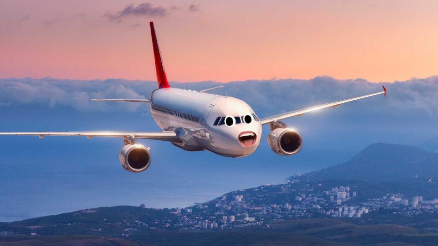 An aeroplane waiting to take off