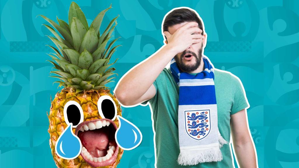 A sad England fan