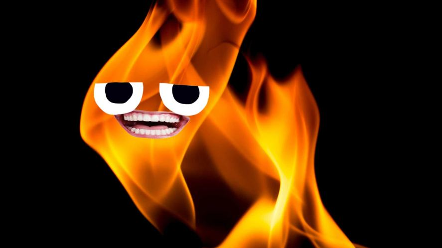 A happy flame