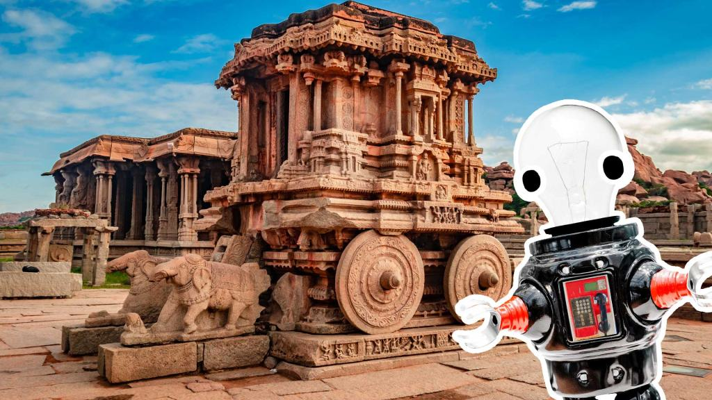 The city of Hampi and a robot
