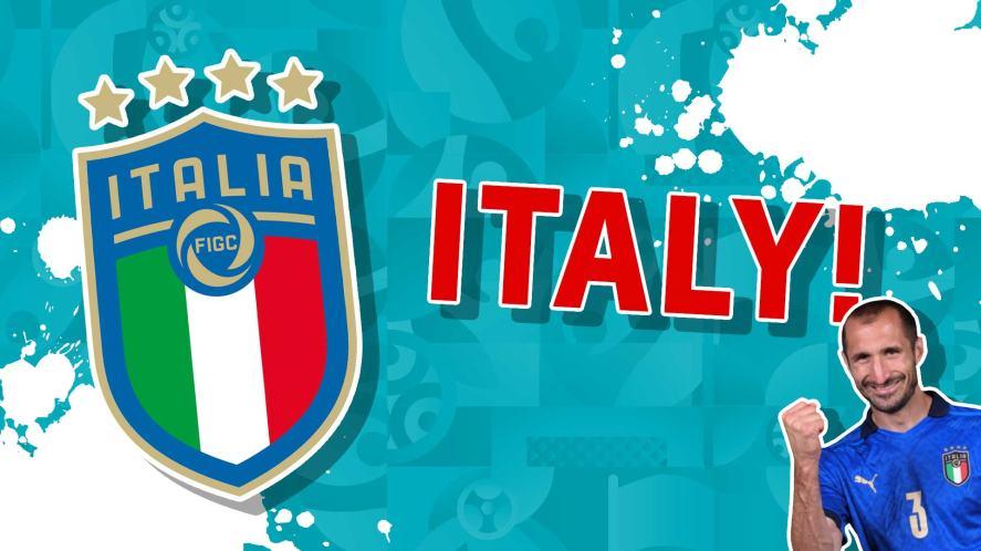 The Italy badge and Giorgio Chiellini