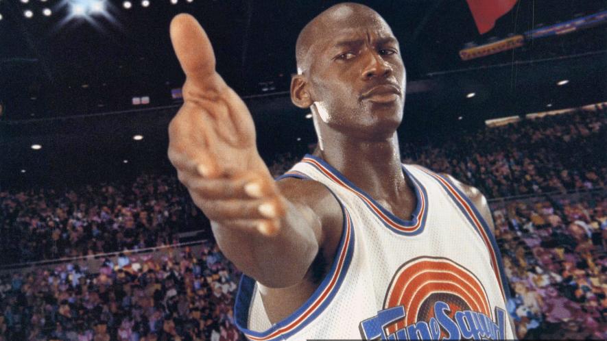 Michael Jordan reaching out to shake hands
