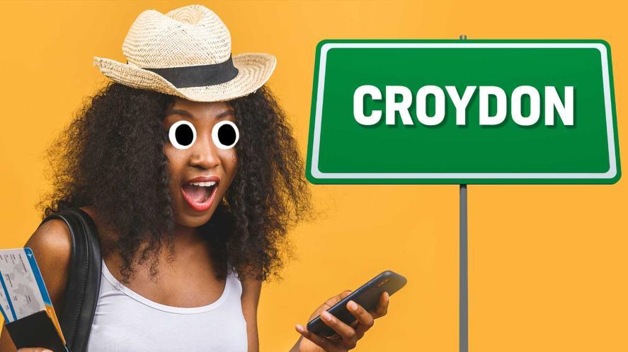 A person visiting Croydon
