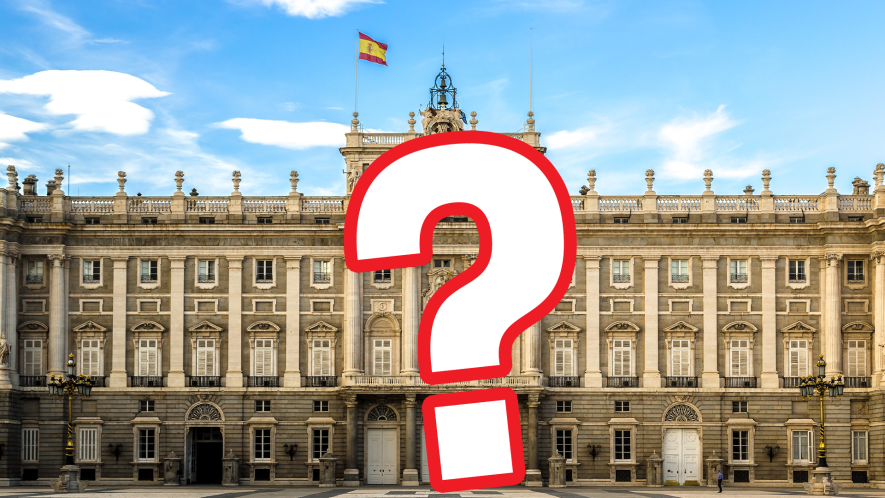 Spanish palace with question mark