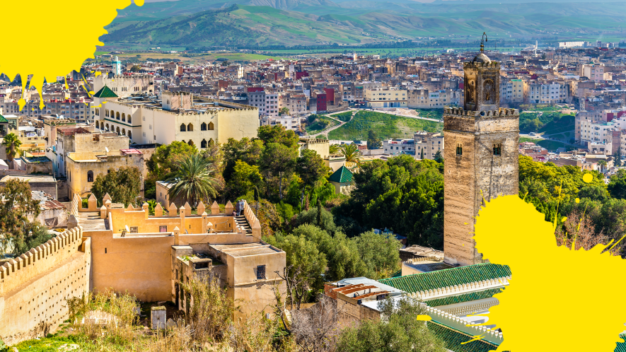 Morocco with yellow splats