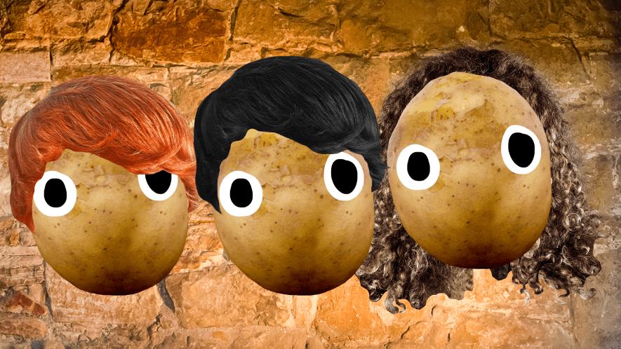 Harry Potter potatoes on stone background