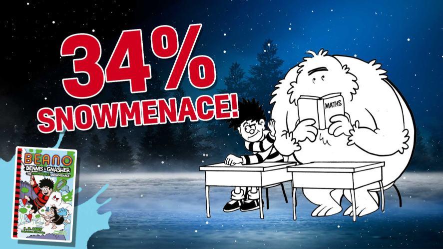 34 per cent Snowmenace