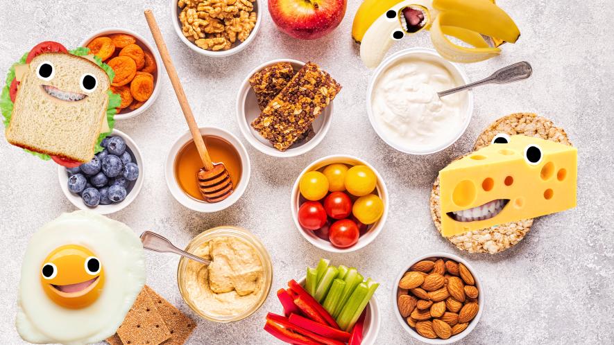 Healthy snacks with goofy Beano food
