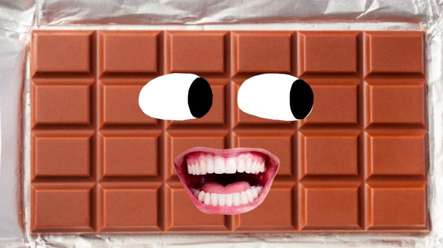 A big bar of chocolate