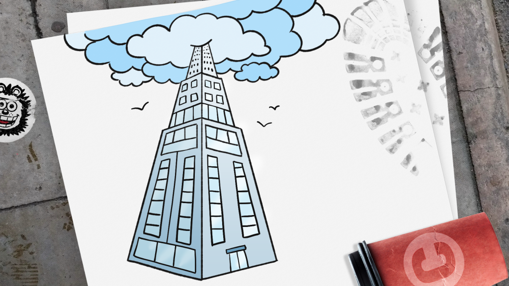How to Draw a Skyscraper step 12