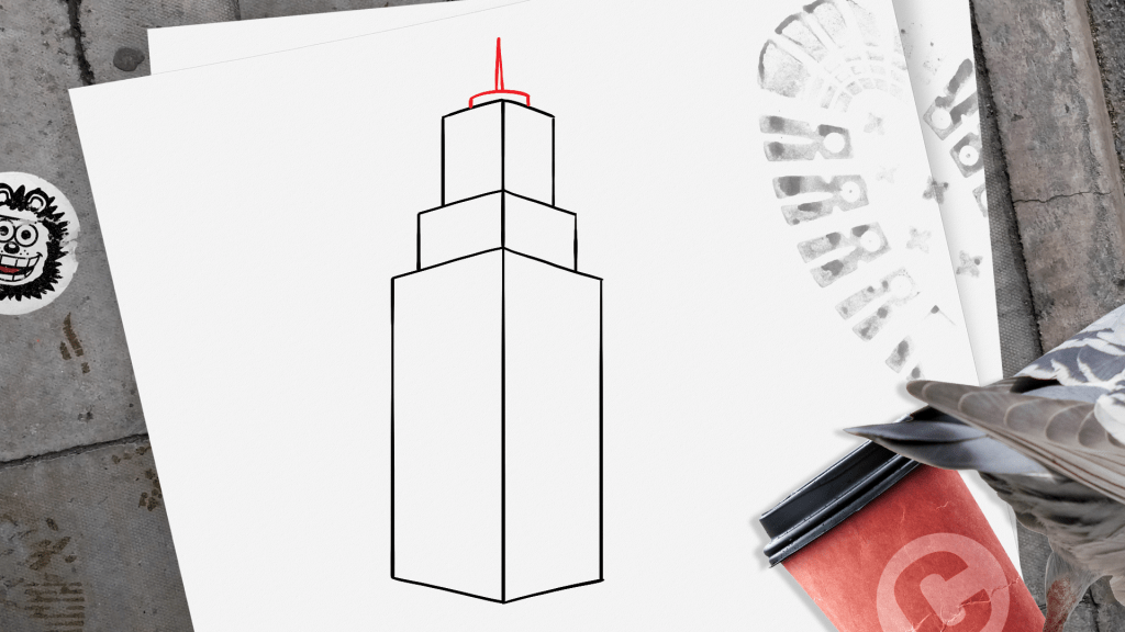 How to Draw a Skyscraper step 8