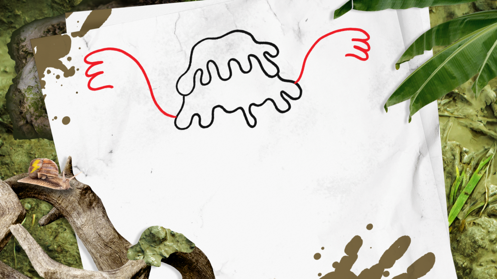 How to Draw a Swamp Monster step 3