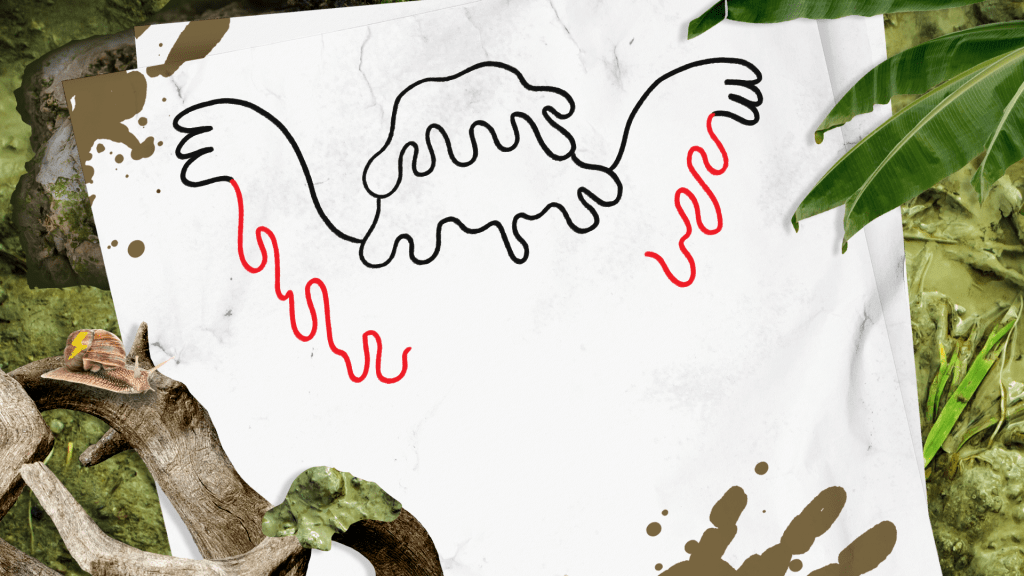 How to Draw a Swamp Monster step 4