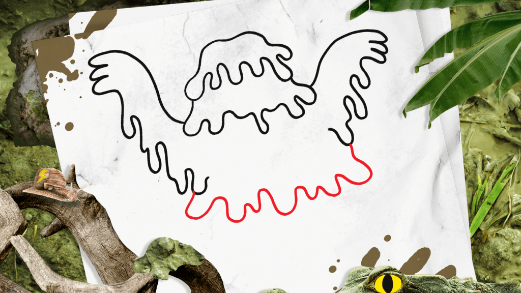 How to Draw a Swamp Monster step 5