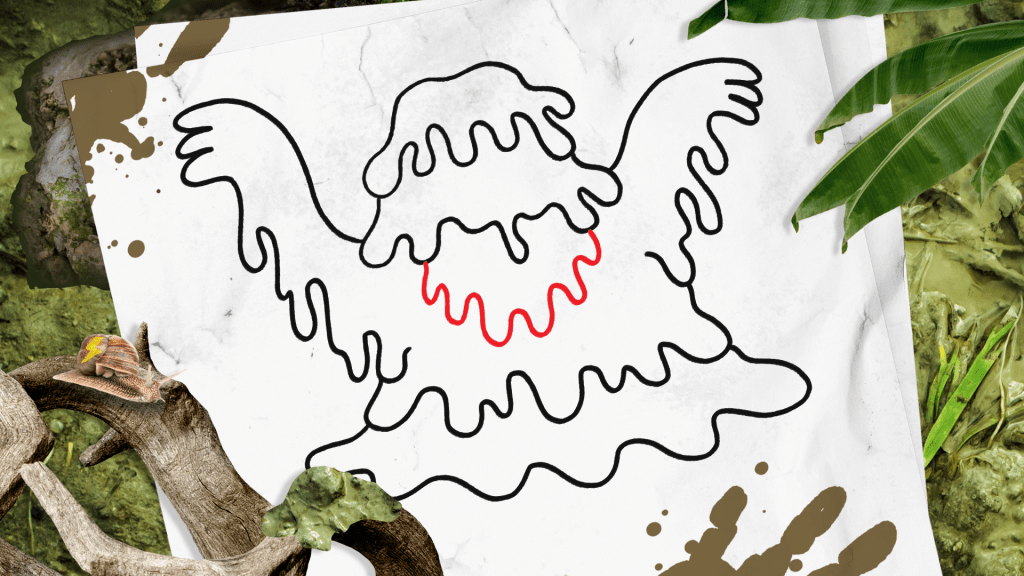 How to Draw a Swamp Monster step 7