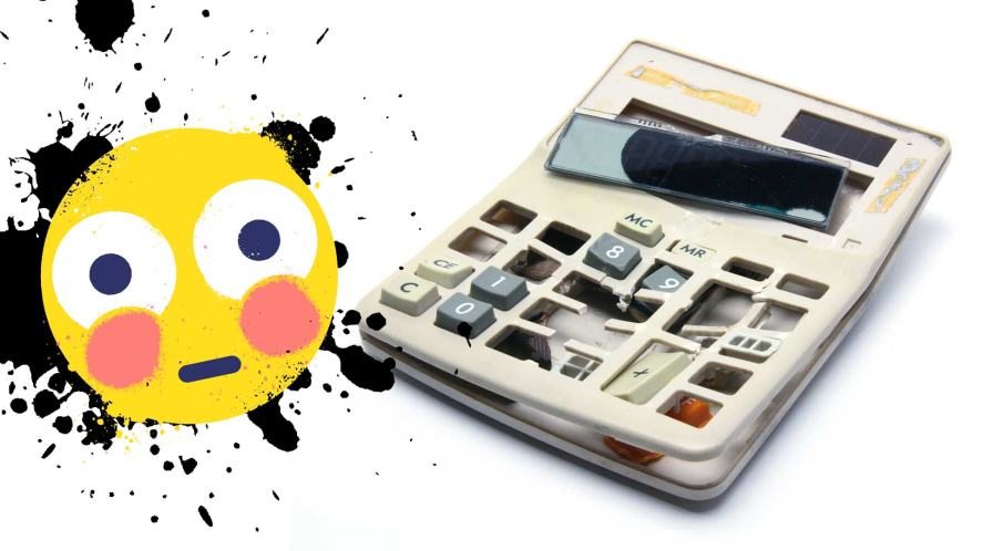 A broken calculator