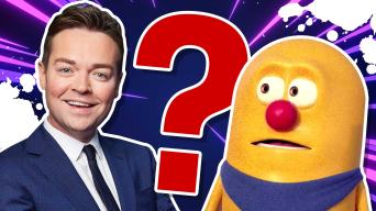 Catchphrase's Stephen Mulhern and Mr Chips