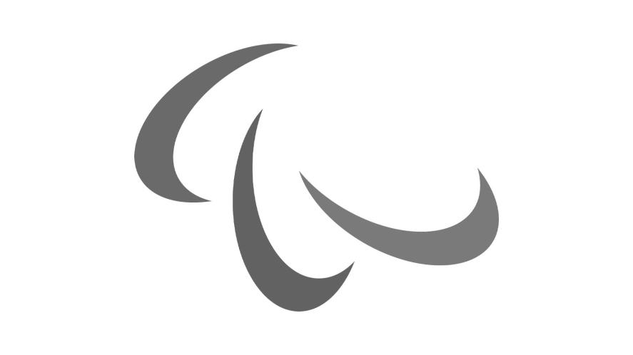 Paralympics logo in black and white