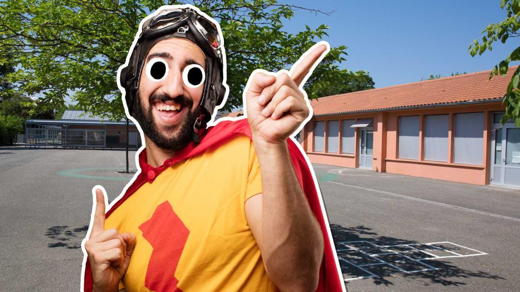 A playground superhero