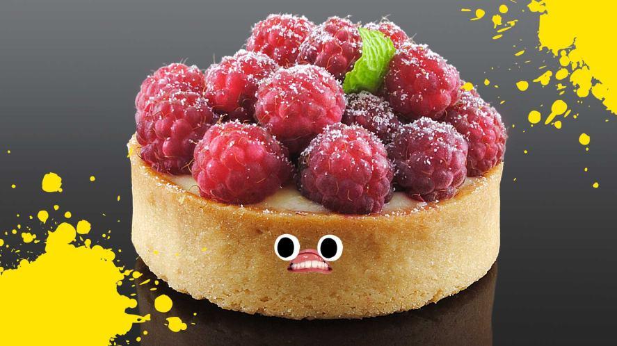 A raspberry tart