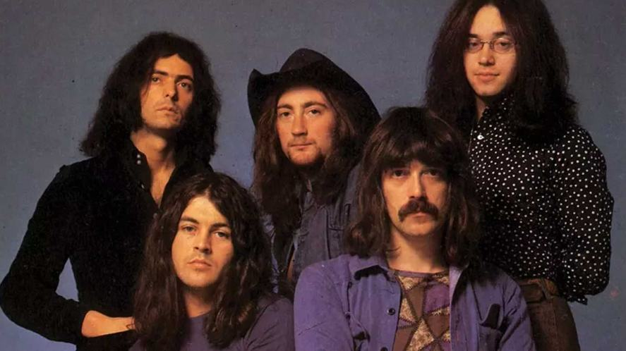 A classic rock band in the 1970s