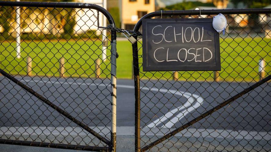 A 'school closed' sign