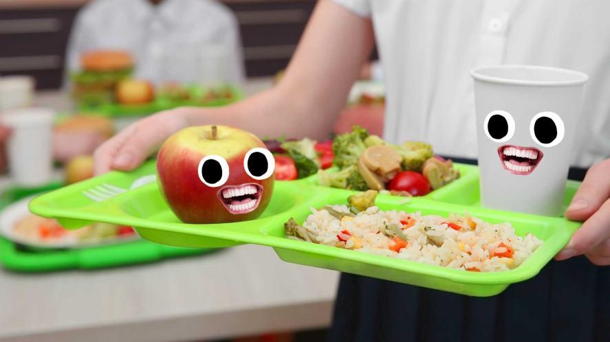 A delicious school lunch