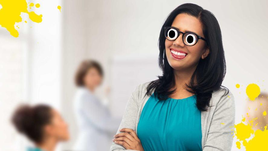 A smiling school teacher