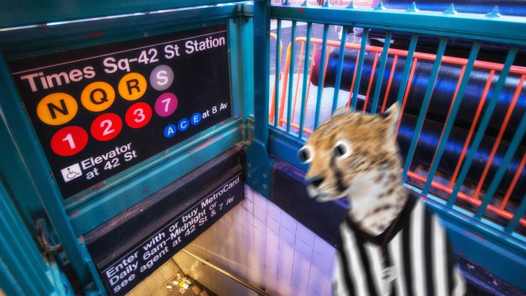A New York subway entrance
