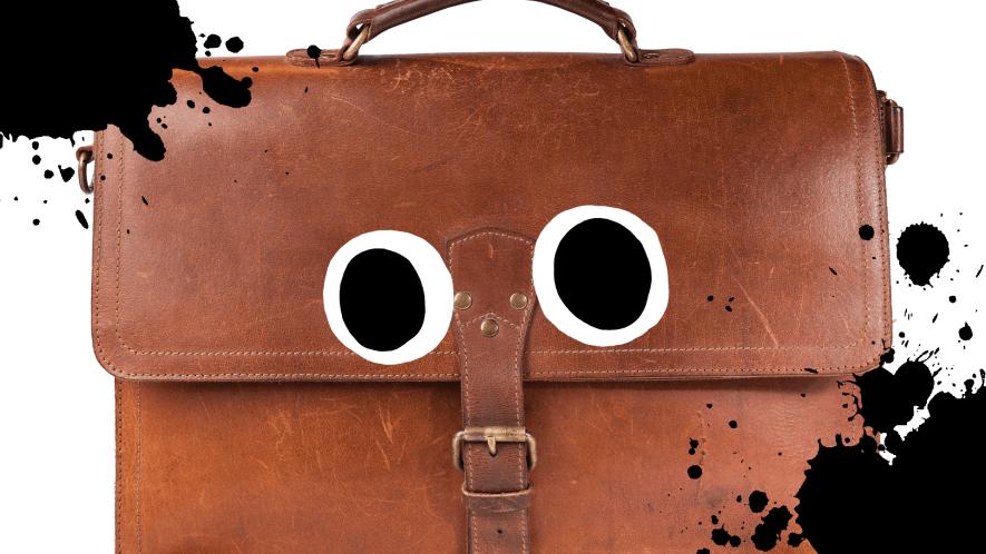 A big brown leather bag