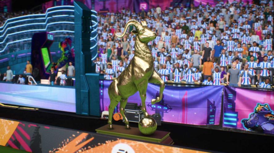 A FIFA 22 trophy