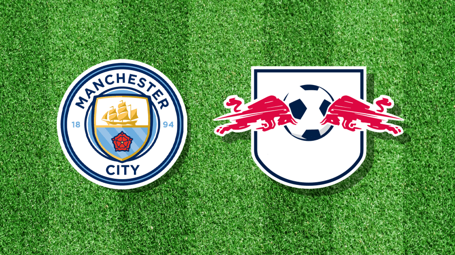 Manchester City and their opponents' badge, which has been altered for this question