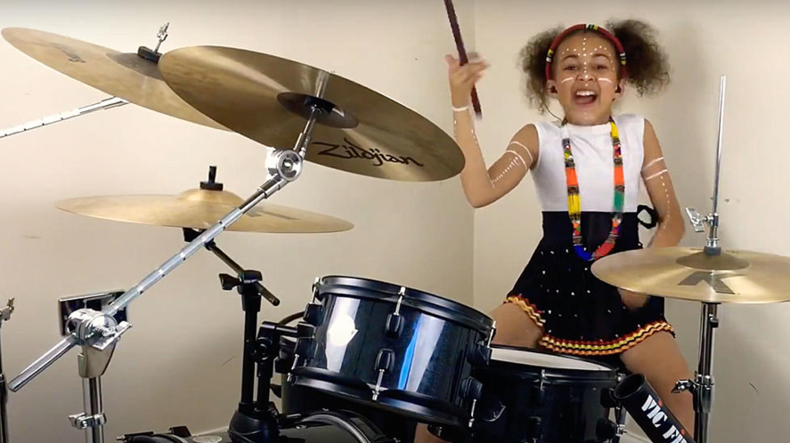 A YouTube drum star