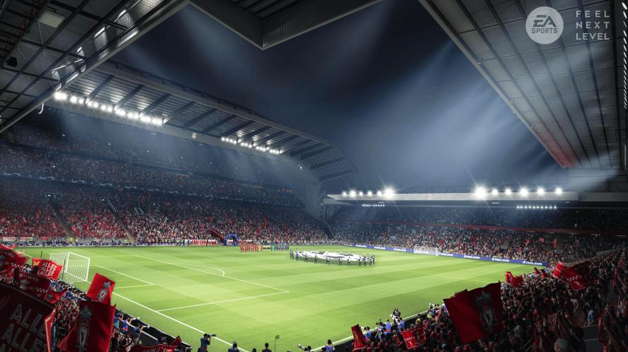 An English stadium in FIFA 22