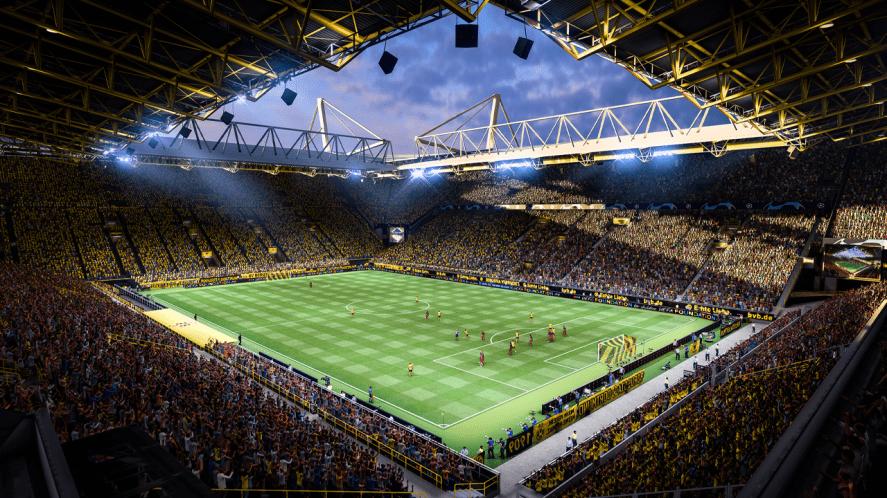 Borussia Dortmund's stadium in FIFA 22