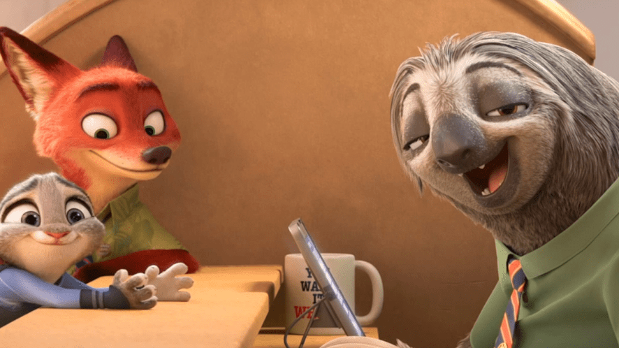 A clip from Zootopia
