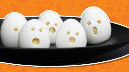Scary Halloween eggs