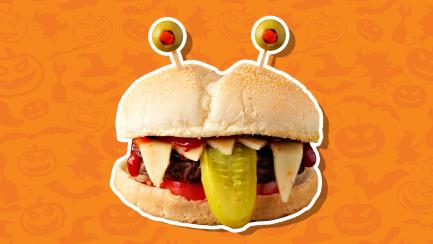 Spooky Halloween burger