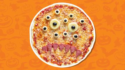 Petrifying Halloween pizza