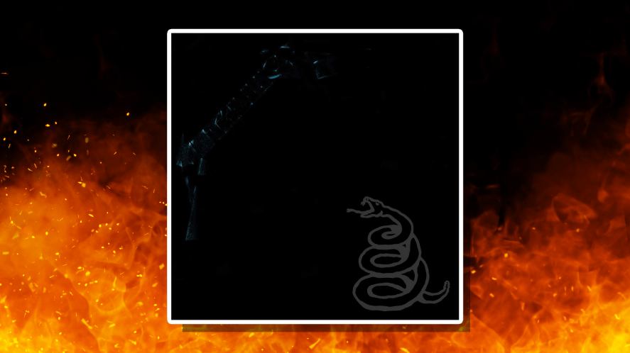 Metallica's 1991 Black Album with elements of the cover artwork revealed
