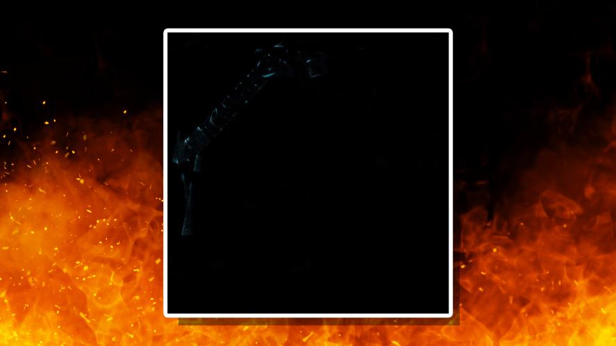 Metallica's 1991 Black Album with elements of the cover artwork hidden