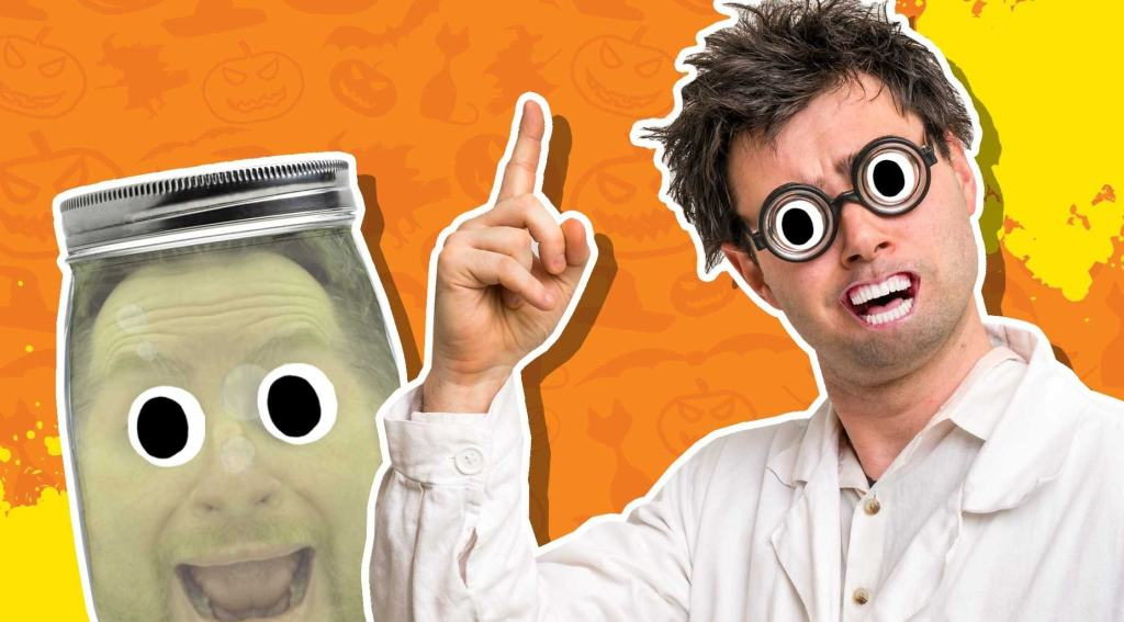 A Halloween prank involving a jar and a print out of a face!
