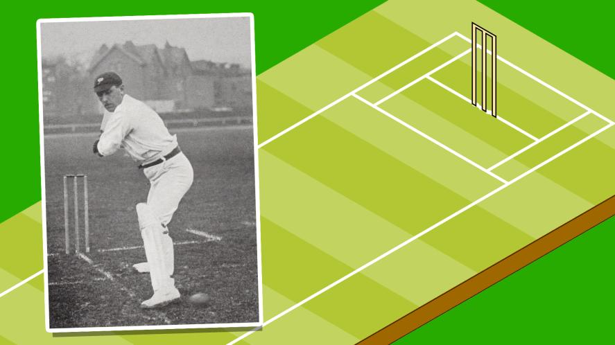 Wilfred Rhodes batting