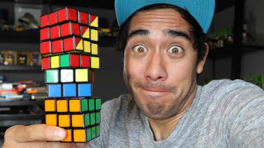 A clip from one of Zach King's amazing video clips