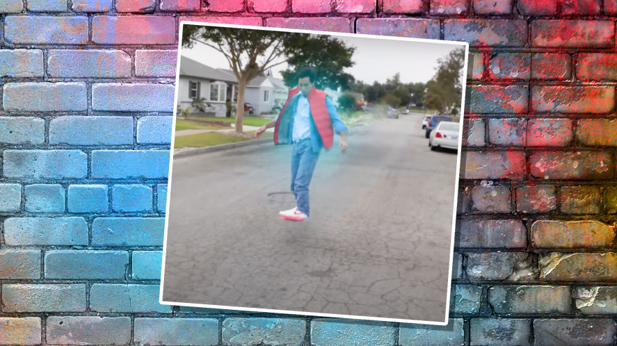Zach King on a hover-board